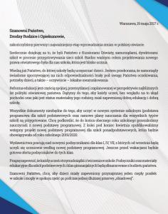 List Ministra Edukacji Narodowej do Rodziców_2017